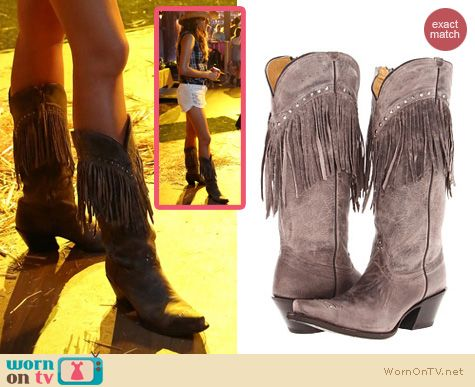 PLL Shoes: Tony Lama Western Cowgirl Boots worn by Shay Mitchell