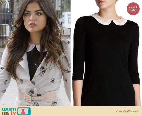 PLL Style: Ted Baker Jamilia Collar Swing Top worn by Lucy Hale