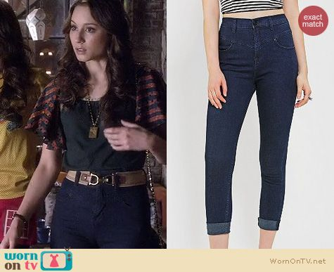 PLL Style: Urban Outfitters high rise jeans by BDG worn by Troian Bellisario