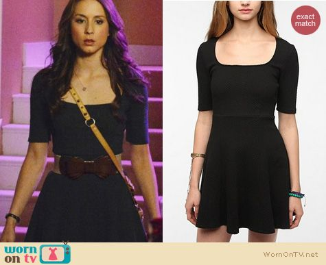 PLL Style: Urban Outfitters Pins and Needles Popcorn Ponte knit dress worn by Troian Bellisario