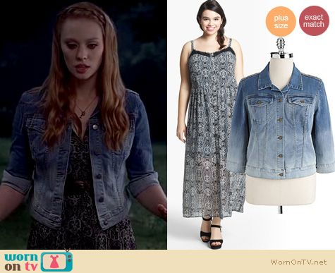 Plus Size Fashion: Jessica Hamby Maxi dress and denim jacket on True Blood