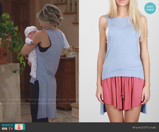 POL High Low Tank worn by Linsey Godfrey on The Bold & the Beautiful