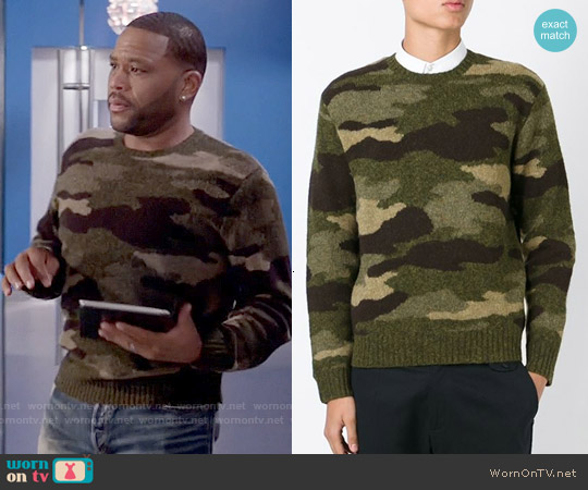 Polo Ralph Lauren Camouflage Sweater worn by Anthony Anderson on Blackish