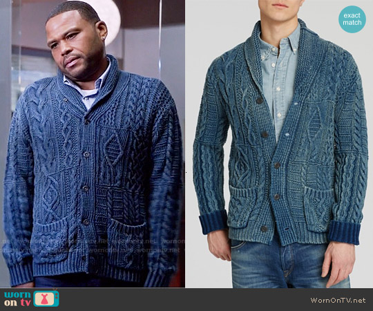 Polo Ralph Lauren Cotton Shawl Cardigan worn by Anthony Anderson on Blackish