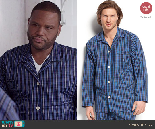 Polo Ralph Lauren Harwich Plaid Pajamas worn by Anthony Anderson on Black-ish
