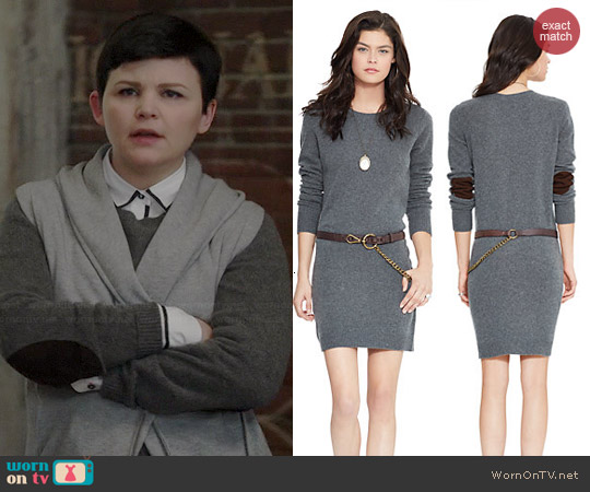 Polo Ralph Lauren Suede-Patch Sweater Dress worn by Ginnifer Goodwin on OUAT