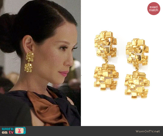 PR Series Lasgodivas Earrings worn by Joan Watson on Elementary