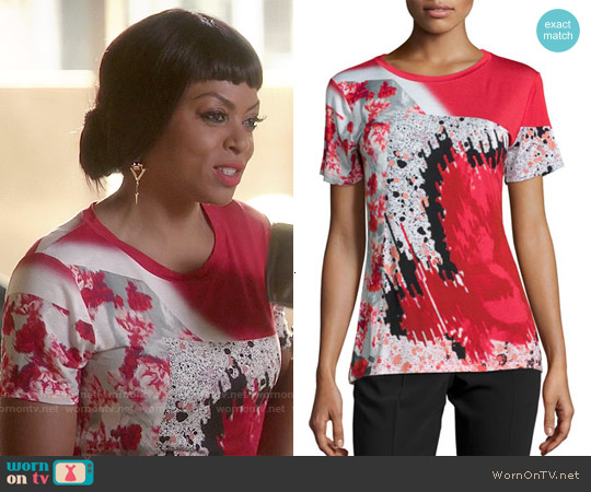 Prabal Gurung Short-Sleeve Abstract-Print T-Shirt worn by Taraji P. Henson on Empire