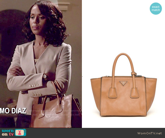 Prada Glace Calf Twin Pocket Tote Bag worn by Olivia Pope on Scandal