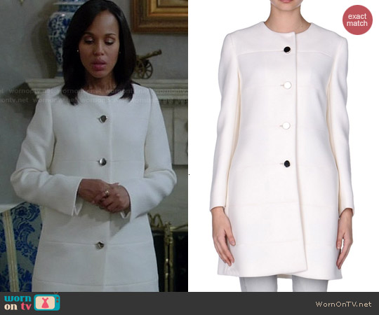 Prada Coat in White worn by Kerry Washinton on Scandal