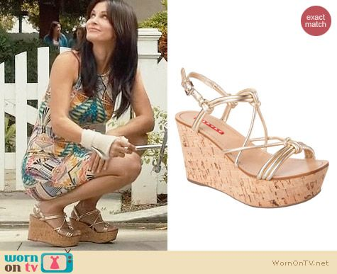 Prada Cork Wedge worn by Courtney Cox on Cougar Town
