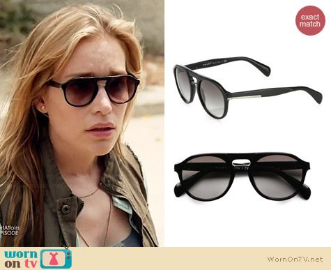 Prada Plastic Keyhole Sunglasses worn by Piper Perabo on Covert Affairs