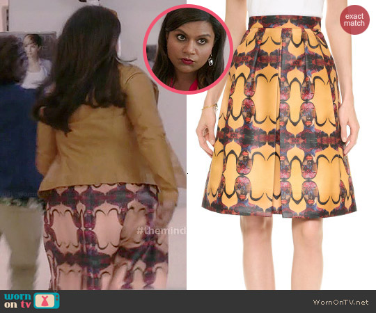 Prada Pleated Skirt by Born Free worn by Mindy Kaling on The Mindy Project