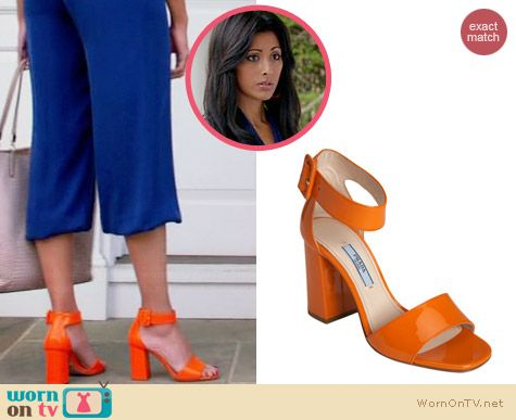 Prada Single Strap Sandal worn by Reshma Shetty on Royal Pains