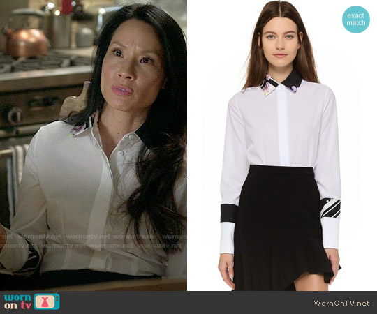 Preen by Thornton Bregazzi Ida Shirt worn by Lucy Liu on Elementary