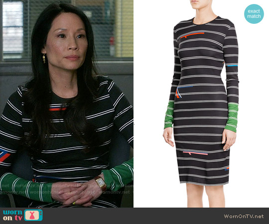 Preen By Thornton Bregazzi Gela Midi Dress worn by Lucy Liu on Elementary