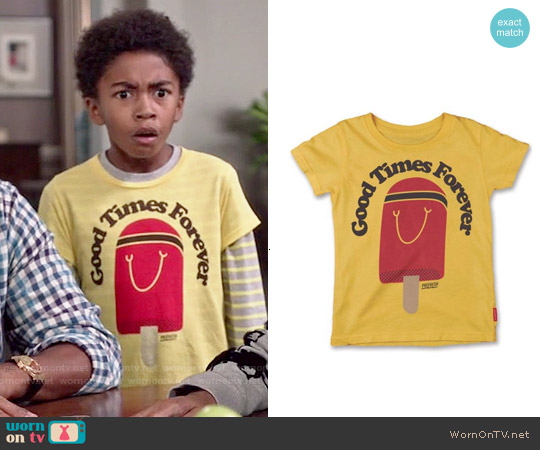 Prefresh Good Times Forever Tee worn by Miles Brown on Blackish