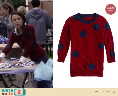 Pretty Little Liars Fashion: J.Crew polka dot sweater worn by Janel Parrish