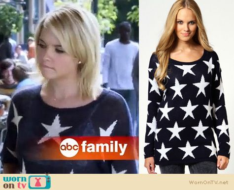 Pretty Little Liars Fashion: Wildfox star sweater worn by Ashley Benson