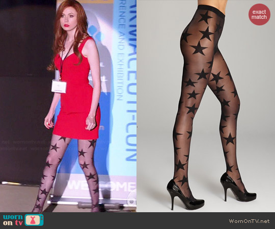 Pretty Polly Superstar Tights worn by Karen Gillan on Selfie