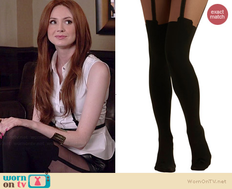 Pretty Polly Suspends Thriller Tights at Modcloth worn by Karen Gillan on Selfie