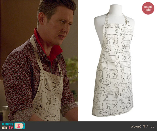 Prime Cuts Print Apron worn by Gabrielle Mann on Revenge