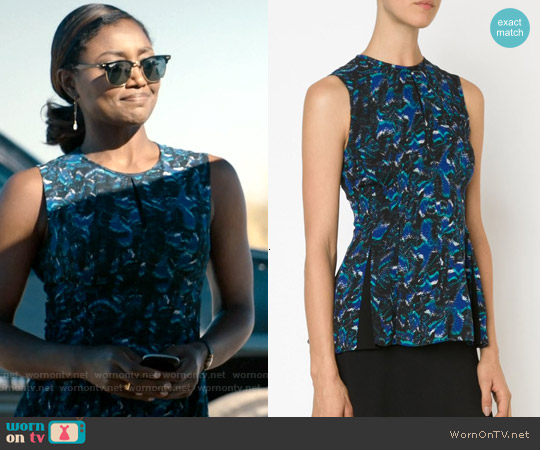 Proenza Schouler Eyelash Print Tank Top worn by Patina Miller on Madam Secretary