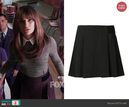 Proenza Schouler Pleated Jersey Skirt worn by Rachel Berry on Glee