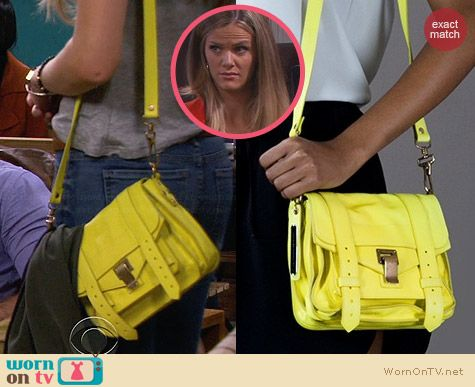 Proenza Schouler PS1 Mini Satchel in Yellow worn by Brooklyn Decker on FWBL