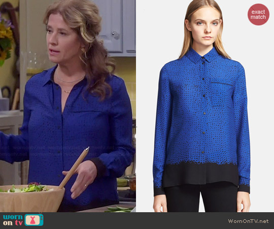 Proenza Schouler Silk Georgette Shirt worn by Nancy Travis on Last Man Standing