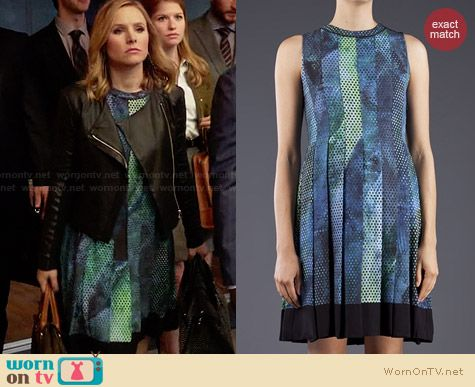 Proenza Schouler Square Dot Print Dress worn by Kristen Bell on House of Lies