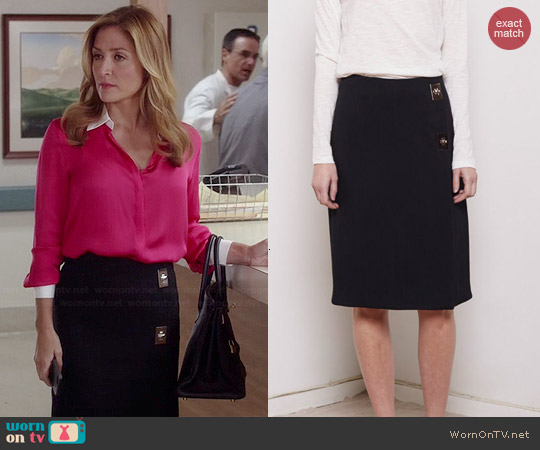 Proenza Schouler Turnlock Pencil Skirt worn by Sasha Alexander on Rizzoli & Isles