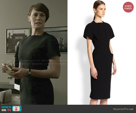 Proenza Schouler Wool Crepe Dress worn by Robin Wright on House of Cards