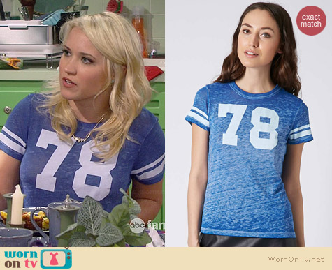 Project Social 78 Tee worn by Emily Osment on Young & Hungry