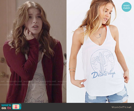 Project Social Desert Days Tank Top worn by Paige Spara on Kevin from Work