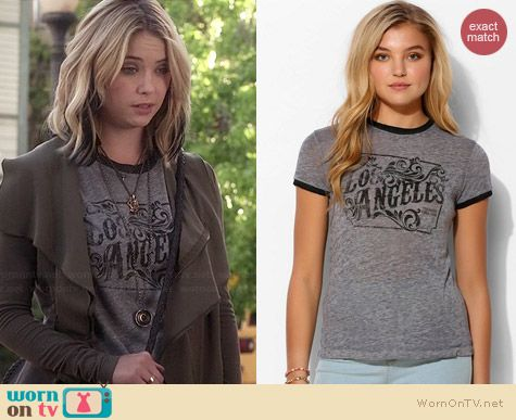 Project Social Los Angeles Tee worn by Ashley Benson on PLL