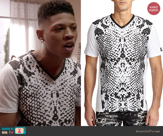 PRPS Snakeskin Print V-neck Tee worn by Bryshere Y. Gray on Empire