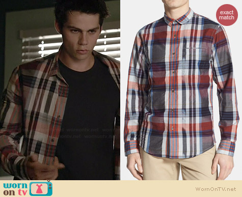 Public Opinion Ikat Poplin Shirt worn by Dylan O'Brian on Teen Wolf