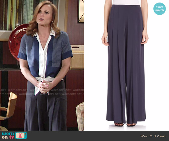 Public School Delblush Wide Leg Pants worn by Phyllis Newman on The Young & the Restless
