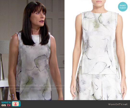 Public School Willow Top worn by Rena Sofer on The Bold & the Beautiful