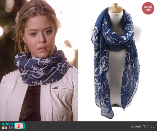 Quest Sweet Bicycle Print Scarf worn by Alison DiLaurentis on PLL