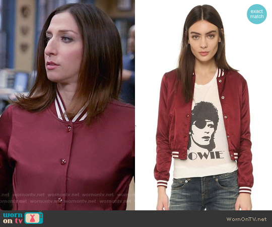 R13 Shrunken Roadie Jacket worn by Chelsea Peretti on Brooklyn Nine-Nine