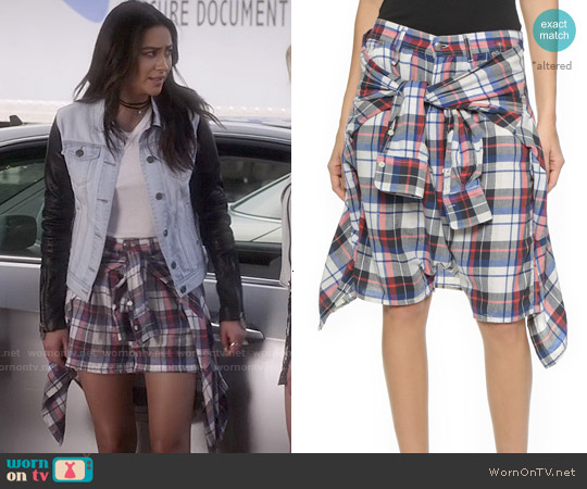 R13 Vedder Shorts worn by Shay Mitchell on PLL