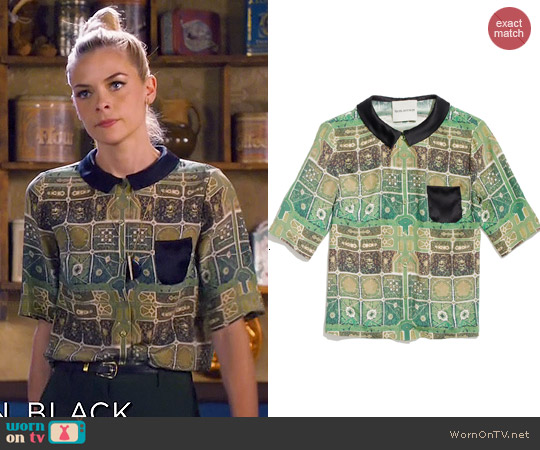 Rachel Antonoff McCormick Blouse worn by Jaime King on Hart of Dixie
