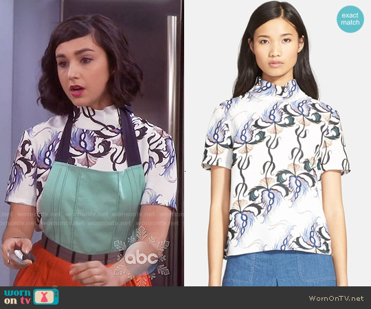 Rachel Comey Apprentice Top worn by  Molly Ephraim on Last Man Standing