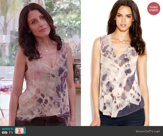 Rachel Roy Andi Tie Dye Tank worn by Lisa Edelstein on GG2D