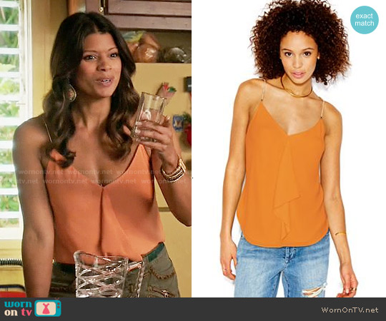 RACHEL Rachel Roy Sleeveless Chain-Detail Blouse worn by Andrea Navedo on Jane the Virgin
