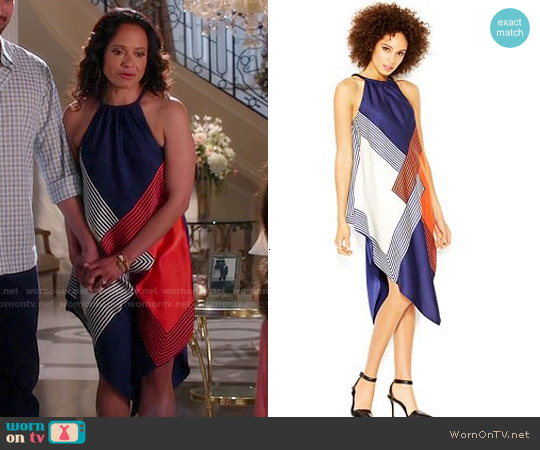 Rachel Roy Square Print Halter Neck Scarf Dress worn by Judy Reyes on Devious Maids