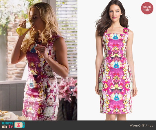 Rachel Roy Stretch Cotton Sheath worn by Laura Bell Bundy on Hart of Dixie