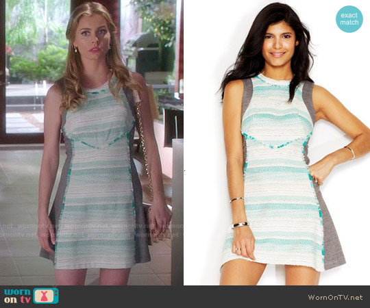 Rachel Roy Tweed Combo Dress worn by Brianna Brown on Devious Maids